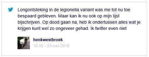 Henk Westbroek legionella